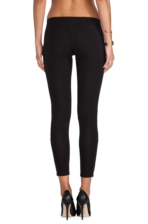 LNA Zipper Legging in Flat Black