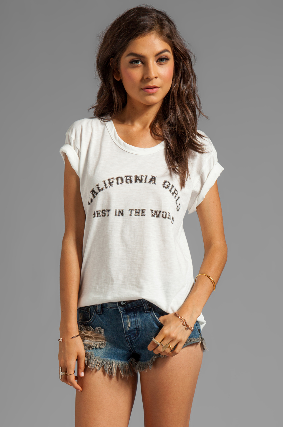 LNA California Girls Tee in White