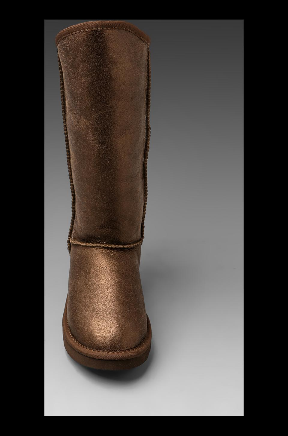 Australia Luxe Collective Cosy Tall Vintage Metallic Boot in Bronze