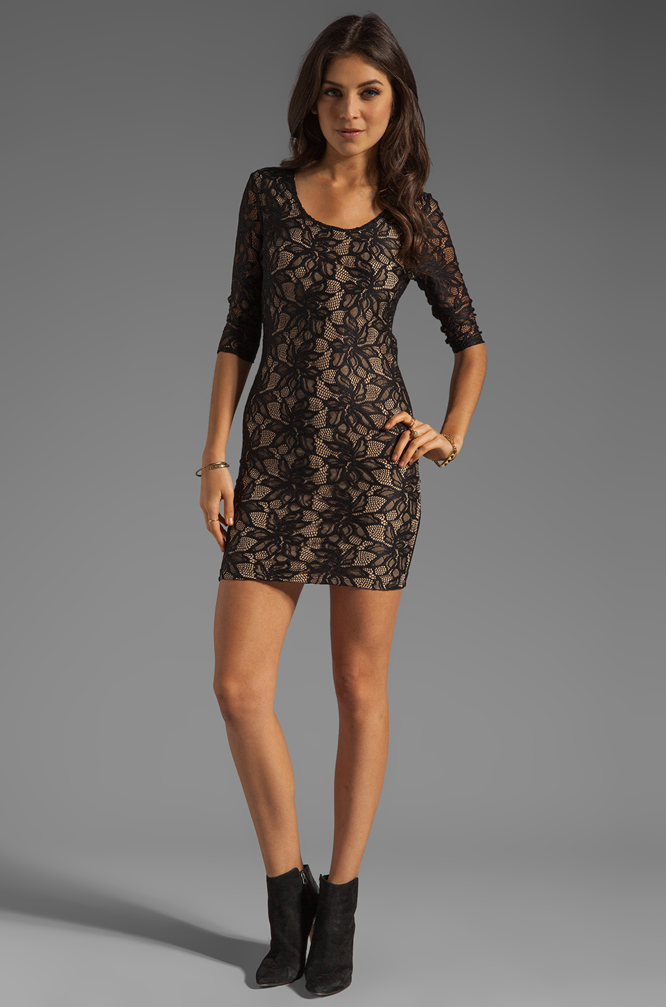 Lovers + Friends Lovers + Friends Sway Dress in Black Lace