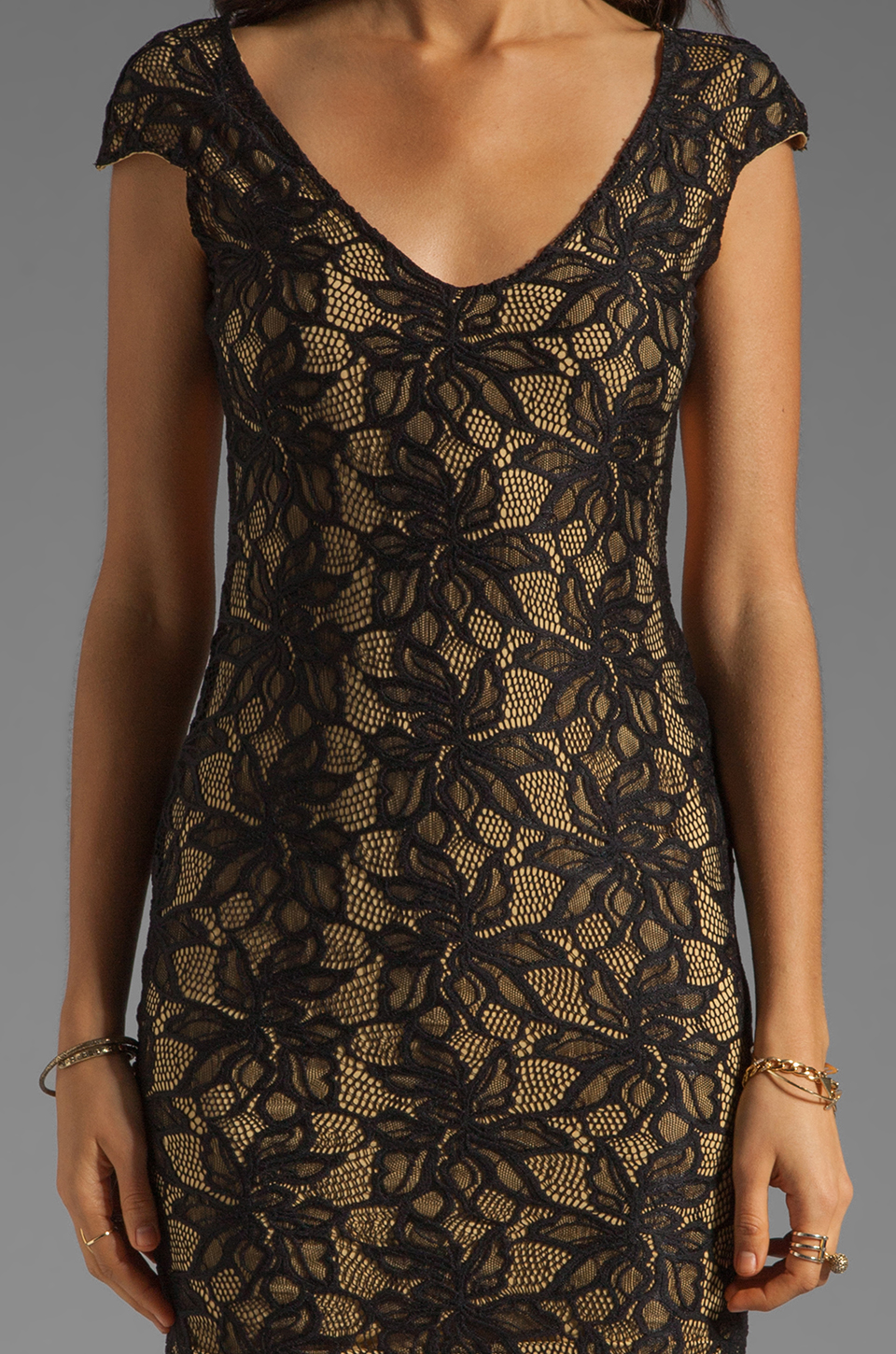 Lovers + Friends Bahama Mama Dress in Black Lace