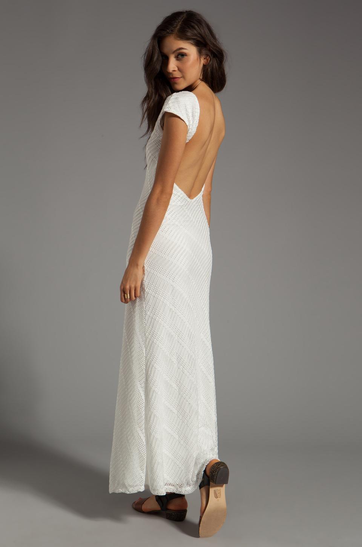 Lovers + Friends Lovers + Friends Vanity Fair Dress in White Stretch