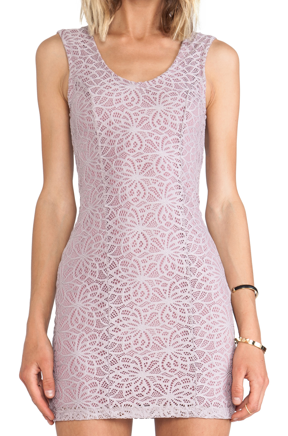 Lovers + Friends Lovers + Friends Au Natural Dress in Lavender Lace