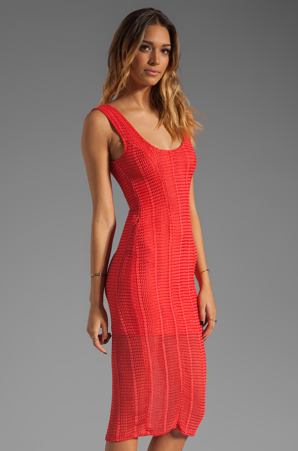 Lovers + Friends Lovers + Friends True Love Dress in Tangerine Stretch