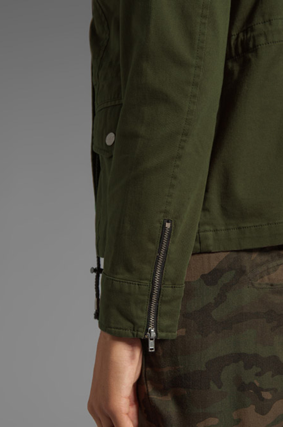 Lovers + Friends Lovers + Friends for REVOLVE Jane Cargo Jacket in Army Green