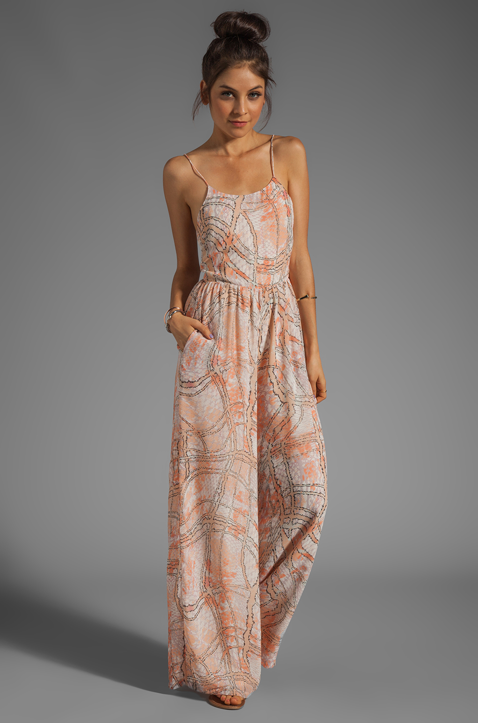 Lovers + Friends Lovers + Friends Caliente Jumpsuit in Abstract Pastel