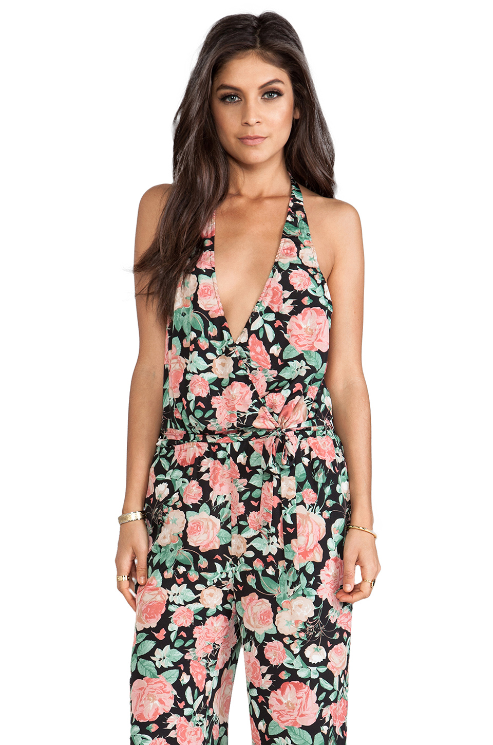 Lovers + Friends Oh Darling Playsuit in Autumn Rose
