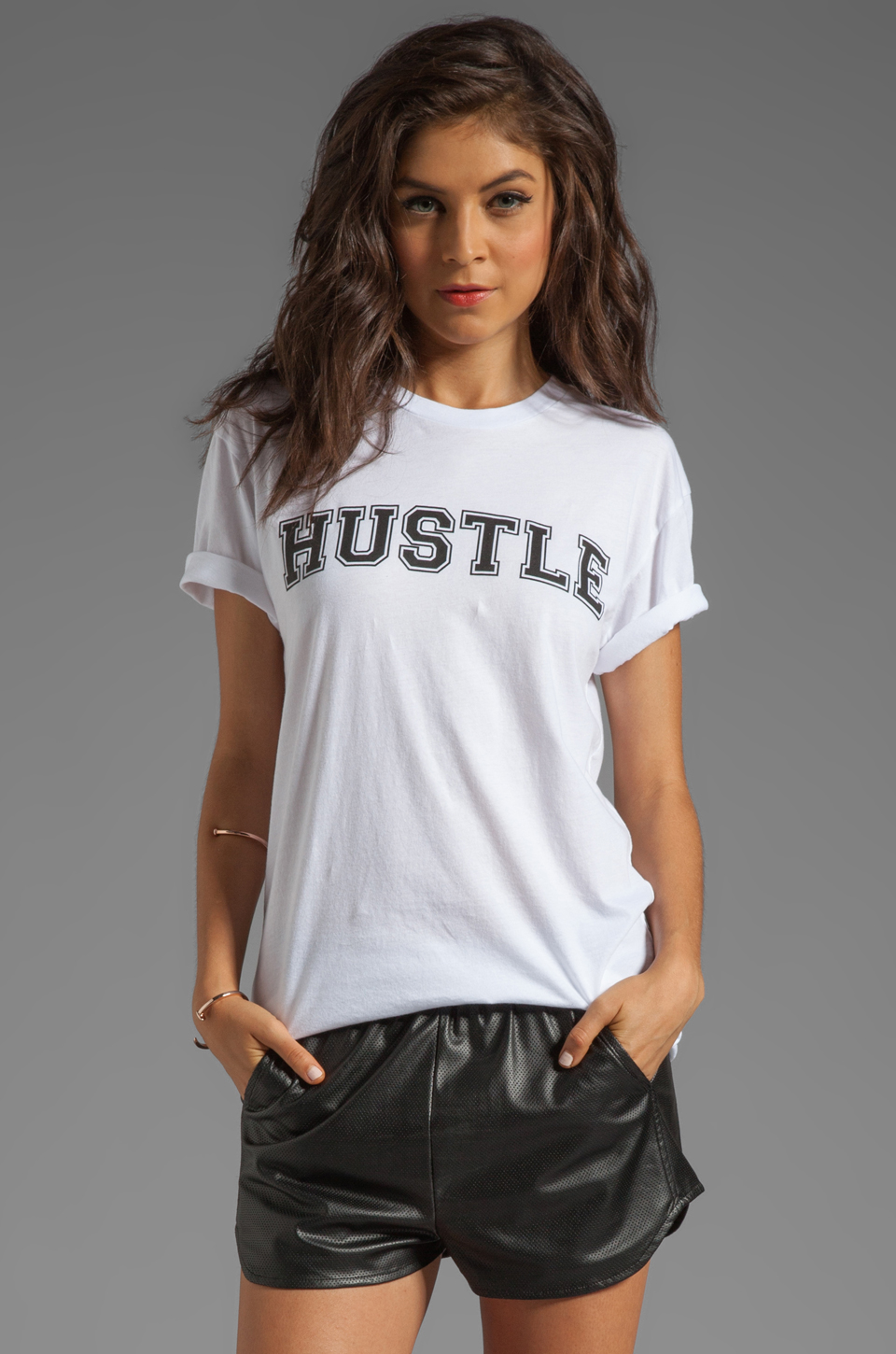 Lovers + Friends Hustle Graphic Tee in White