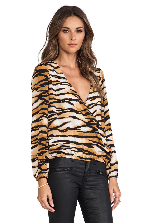 Lovers + Friends Lovely Long sleeve Top in Wildcat