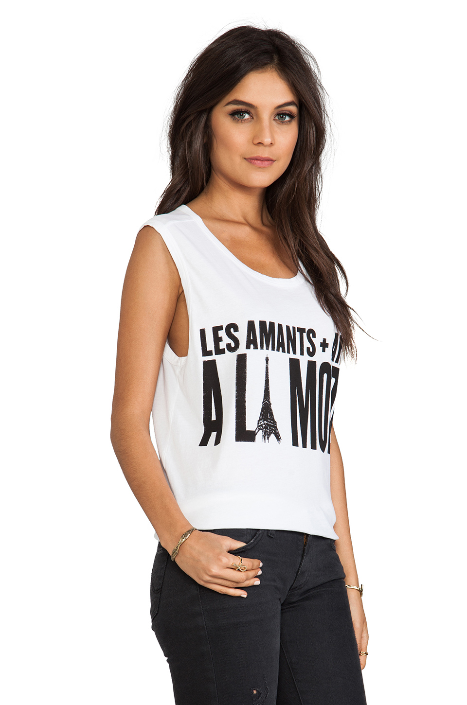 Lovers + Friends Muscle Tee in A La Mode