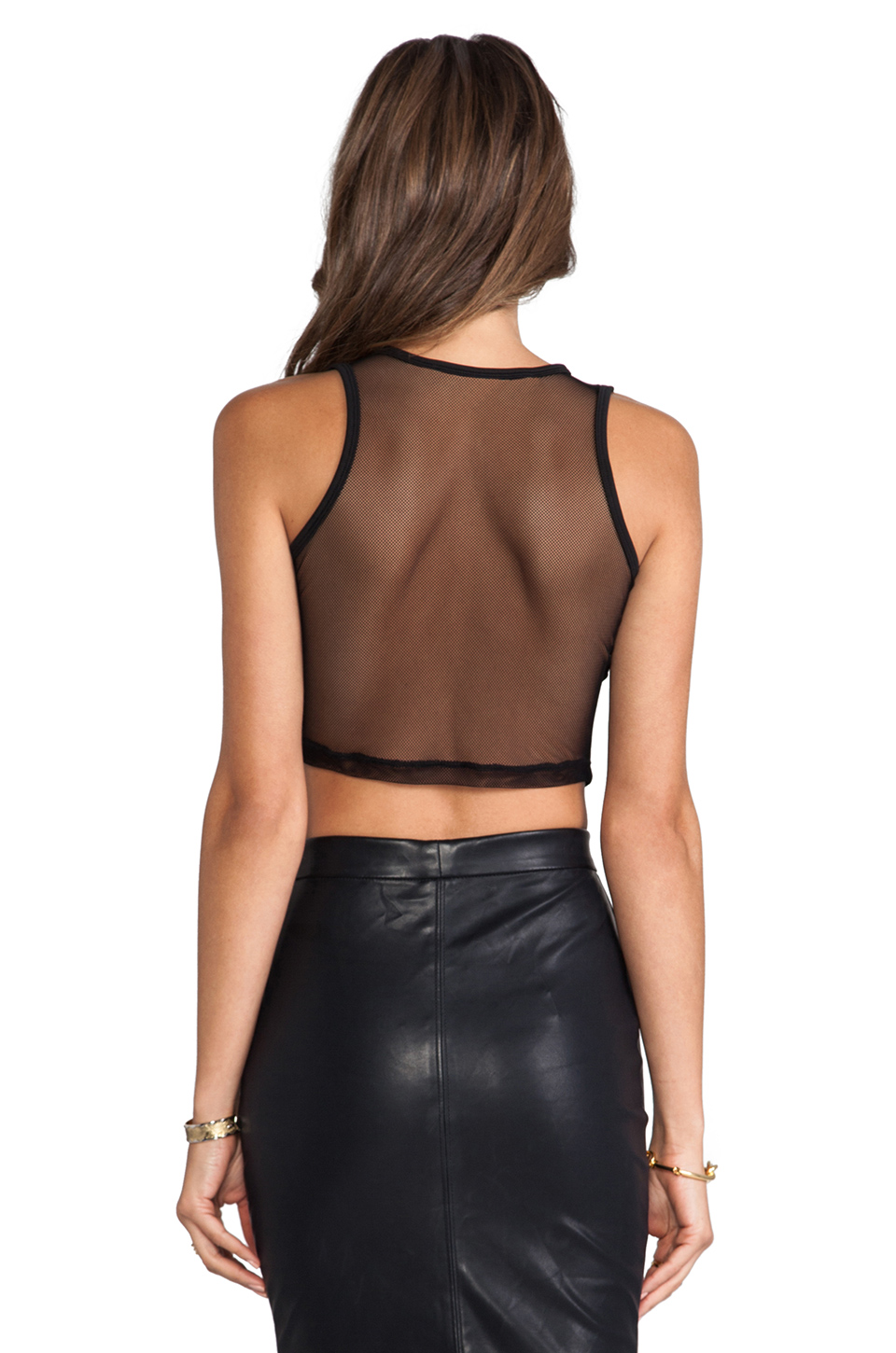 Lovers + Friends for REVOLVE Crop Top in Black