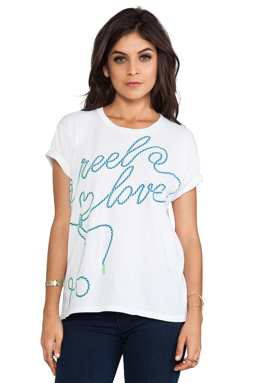 Lovers + Friends Graphic Tee in Reel Love