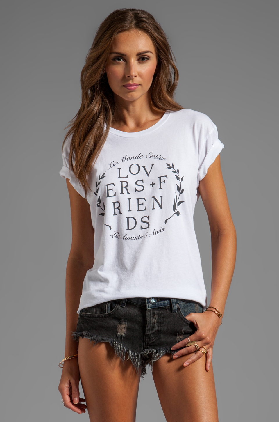 Lovers + Friends Basic Tee in Around The World