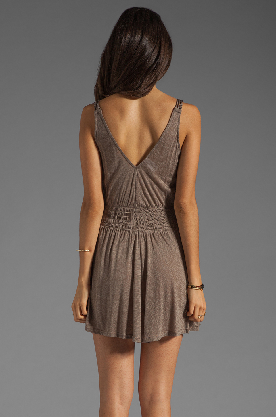 L*SPACE Spirit Mini Dress in Taupe