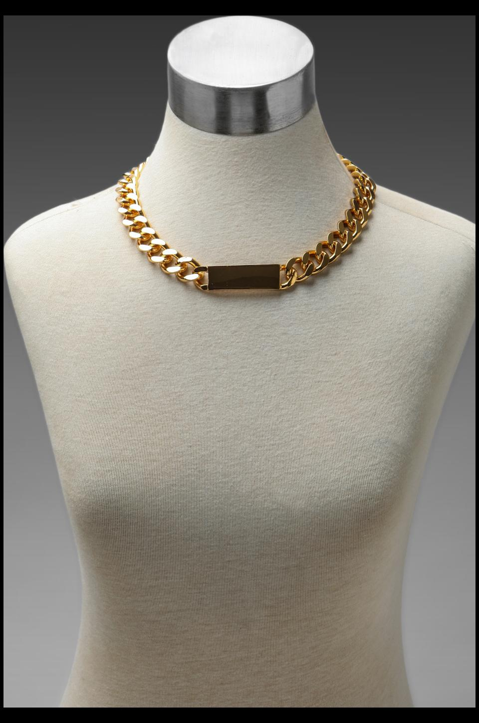 Luv AJ The ID Necklace in 24 Kt Gold