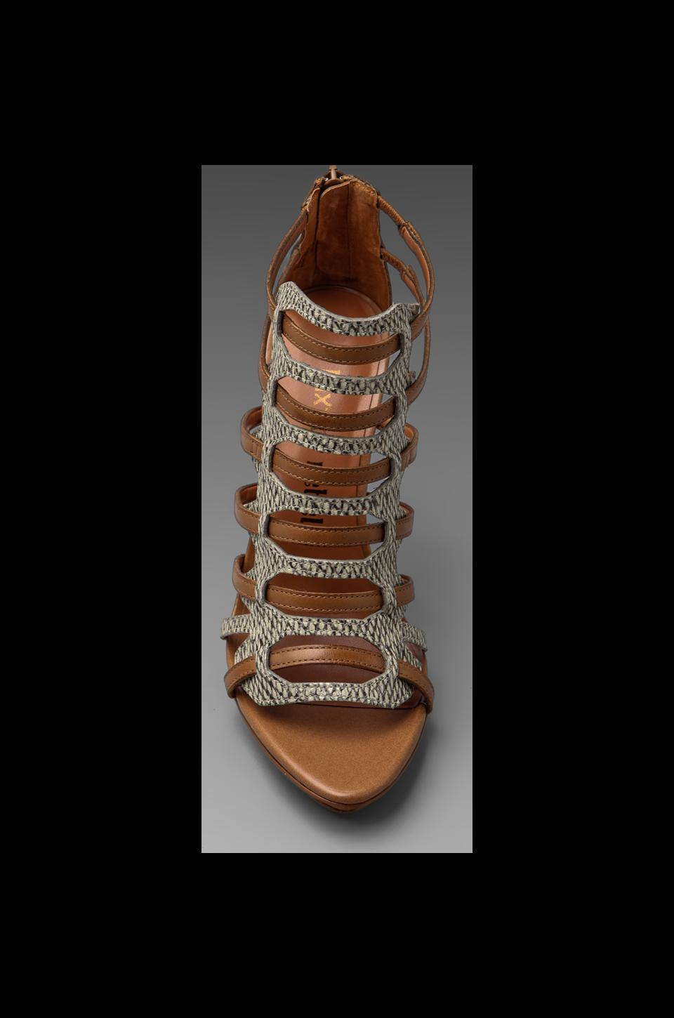 Luxury Rebel West Heel in Latte/Natural Buff