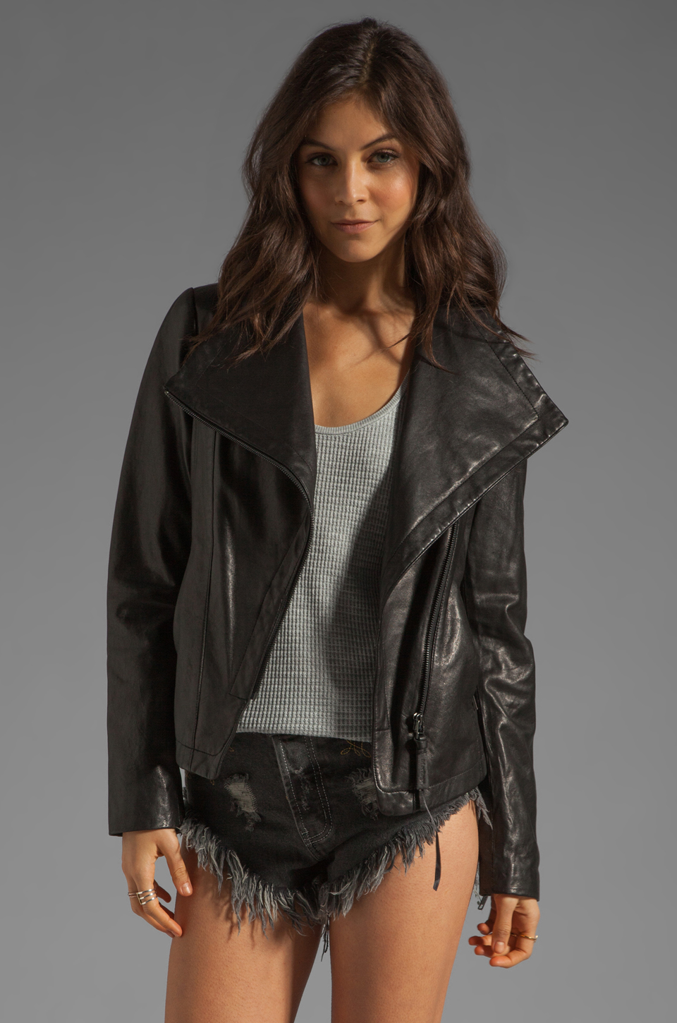 Mackage Tribeca Classic Leather Jacket in Black