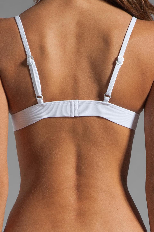 MINIMALE ANIMALE Pay Back Bikini in Blanco with Print with Blanco Mesh Overlay