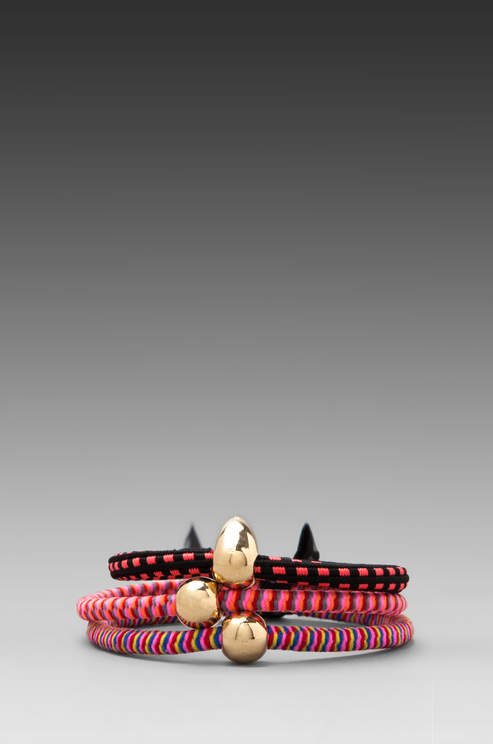 Marc by Marc Jacobs Mixed Elastic Pony's in Pink Multi/Oro