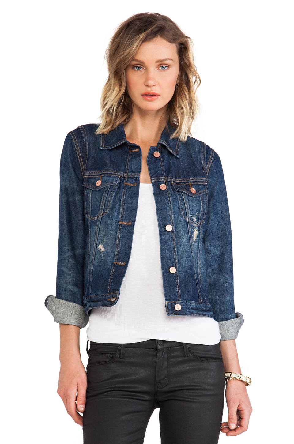 Marc by Marc Jacobs Pieced Denim Jacket in Blue