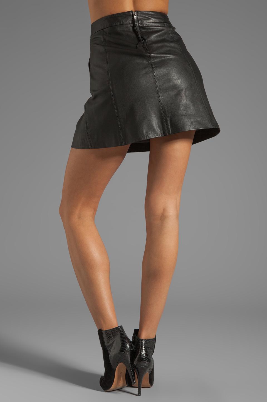 Marc by Marc Jacobs Jett Leather Skirt in Phantom