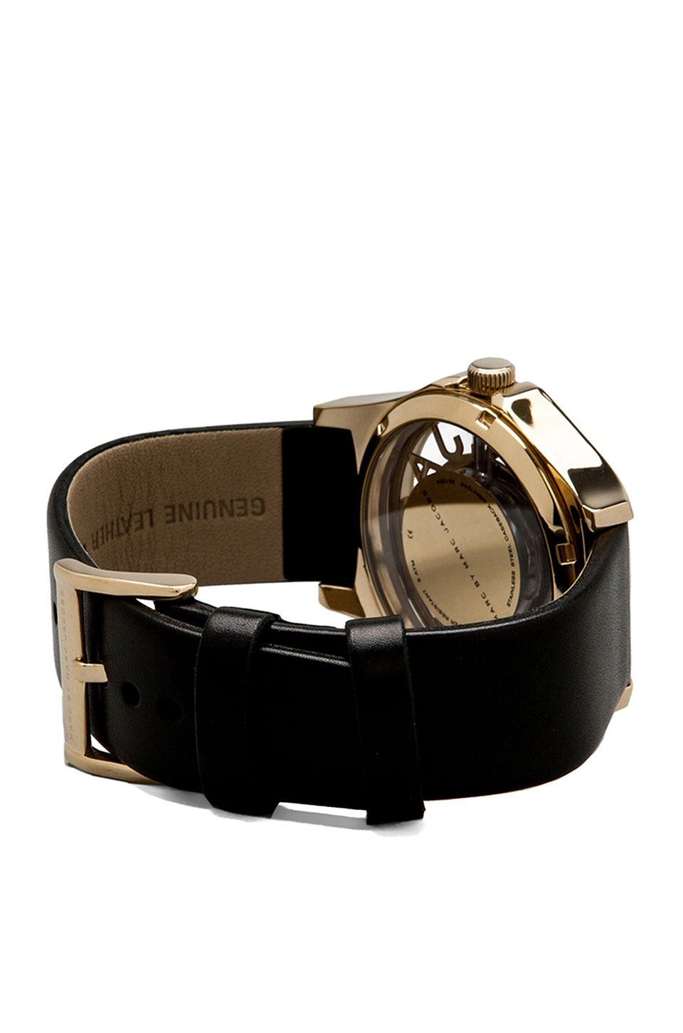 Marc by Marc Jacobs Henry Skeleton Watch in Black/Gold