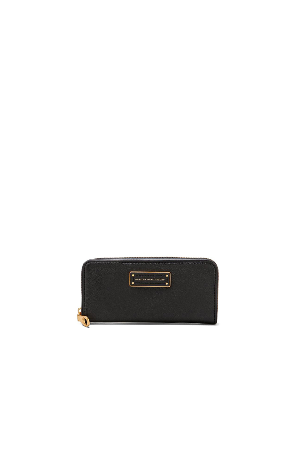 Marc by Marc Jacobs Slim Zip Around Wallet in Black