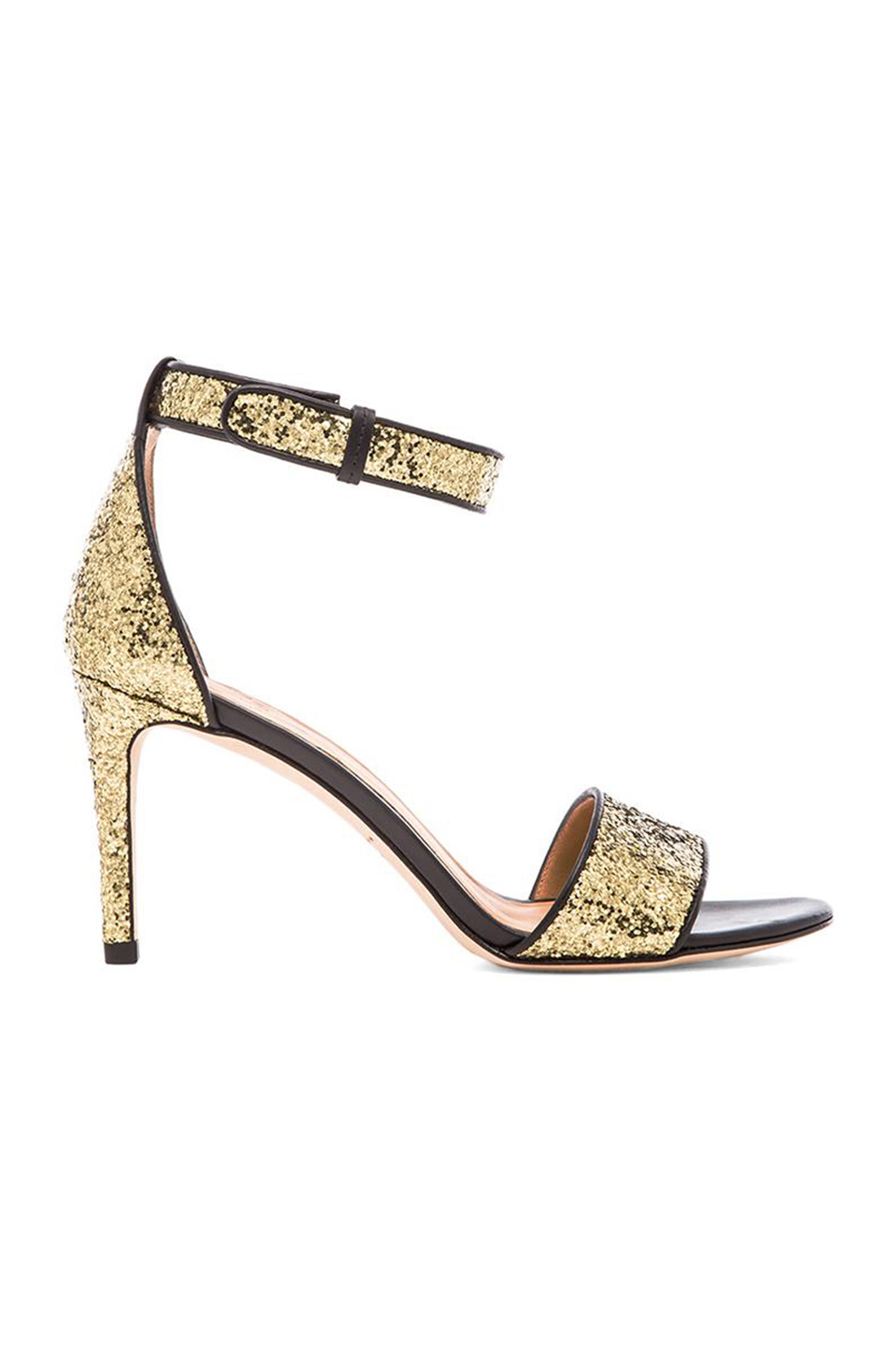 Marc by Marc Jacobs 85 mm Sandal Heel in Gold/Black
