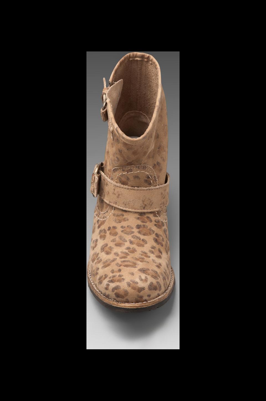 Matisse Richards Short Motorcycle Boot in Beige Leopard