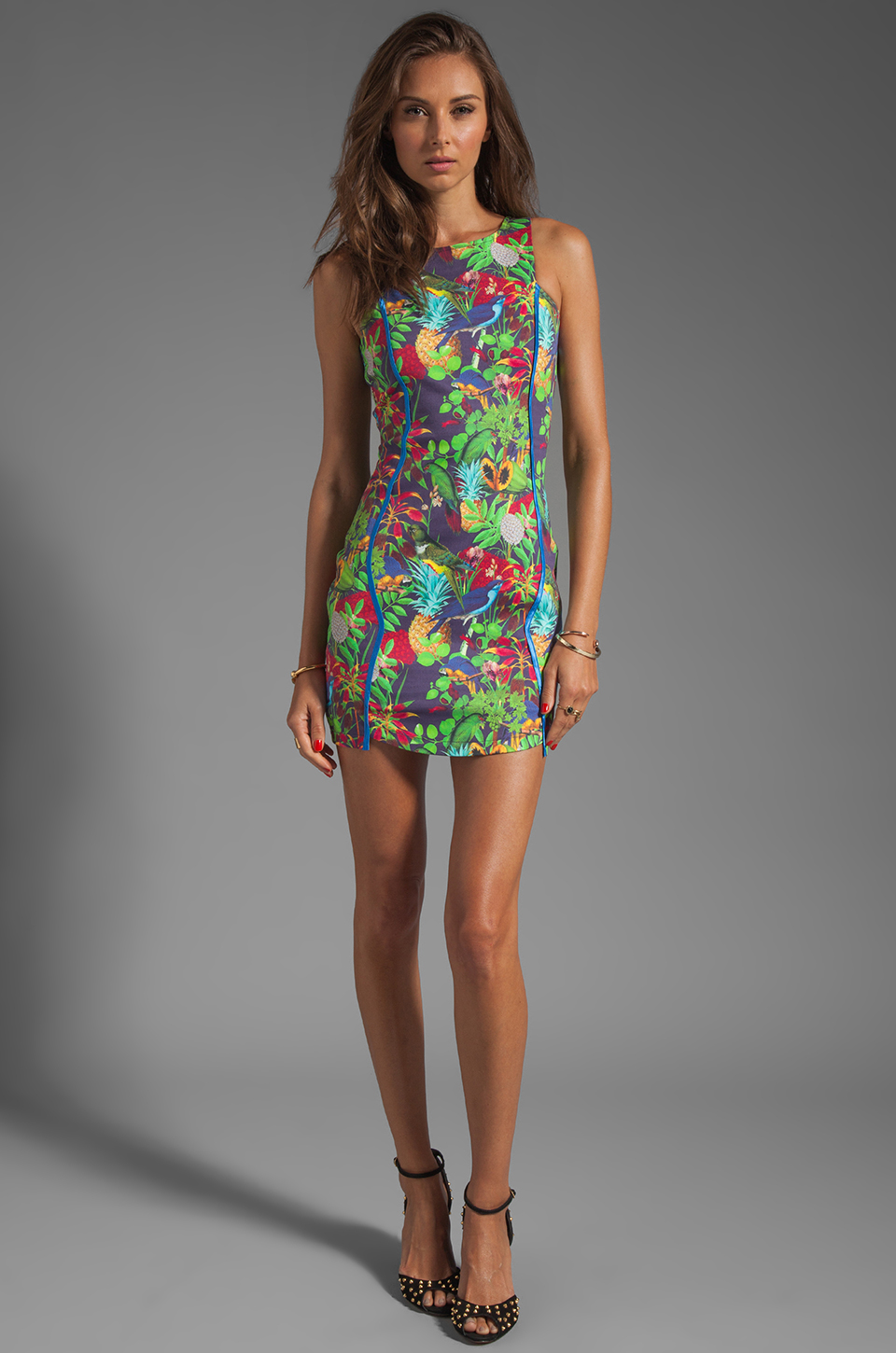 Maurie & Eve Lotus Dress with Ribbon Bind in Paradise