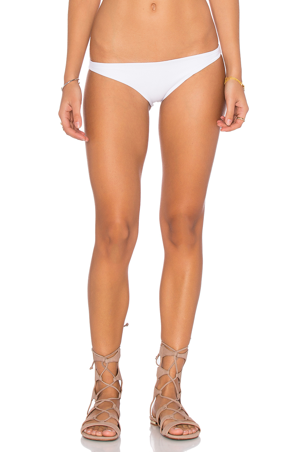 MIKOH Miyako Basic Skimpy Bottom in Foam