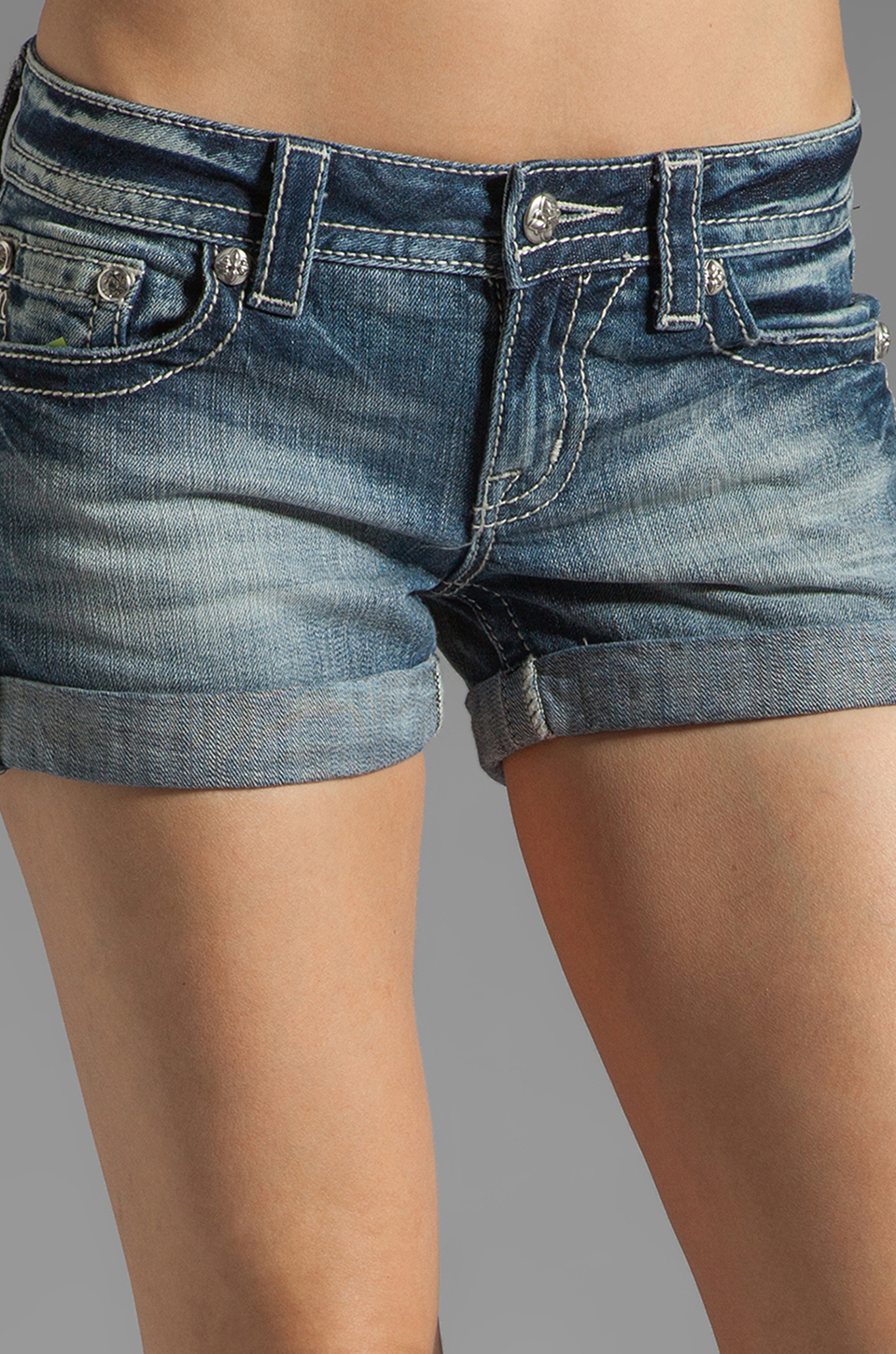 Miss Me Jeans Short Shorts in LT 41
