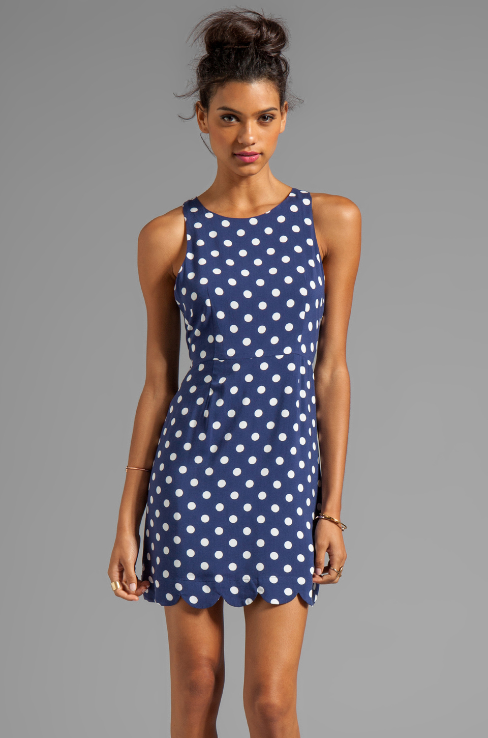 MINKPINK Forget Me Not Dress in Navy