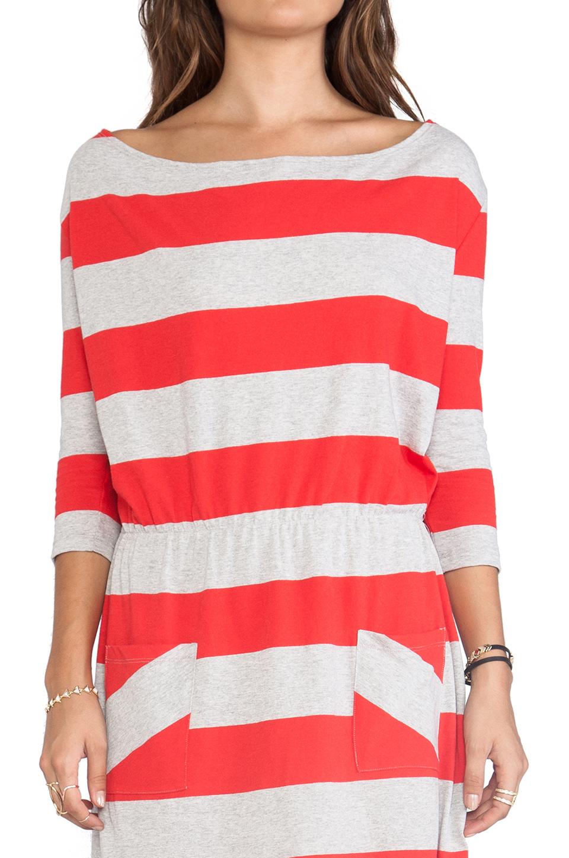 Market Wide Stripe Cassandra Dress in Red