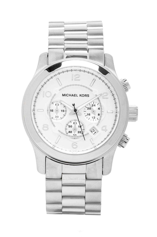 Michael Kors Runway Watch in Metallic Silver