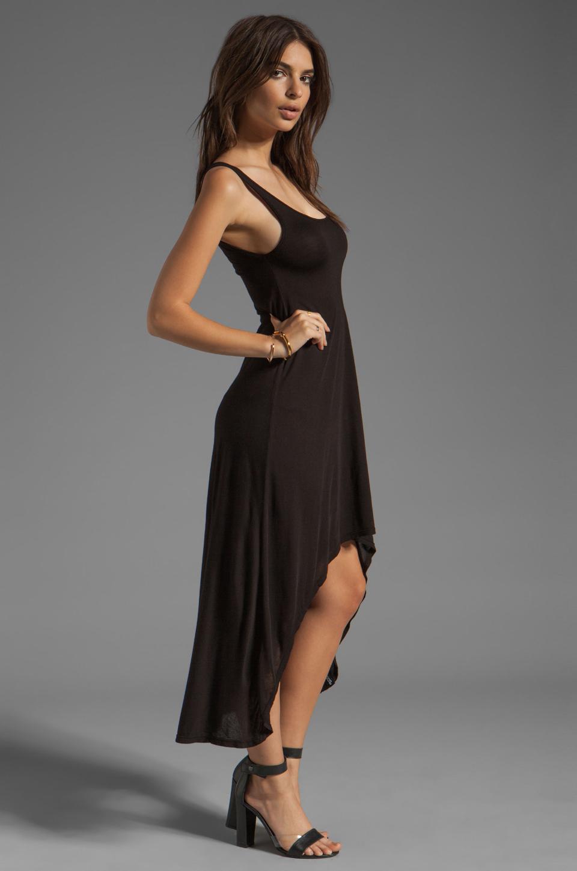 Michael Lauren Mac Asymmetrical Dress in Black