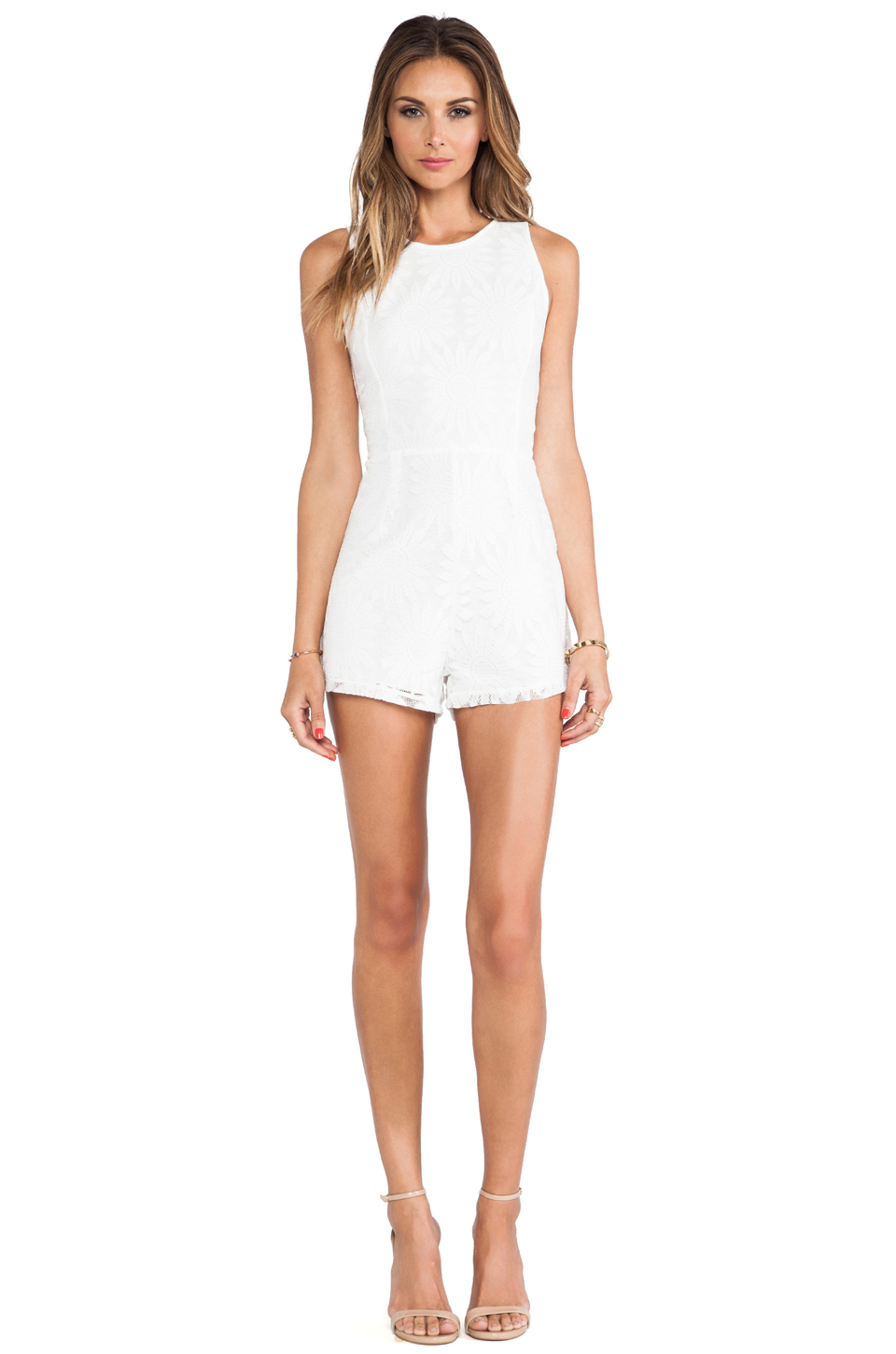 Motel Lola Playsuit in White