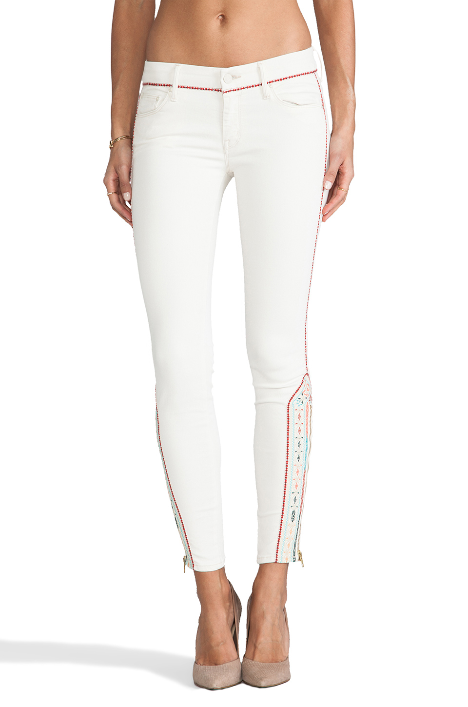 MOTHER The Looker Crop Skinny in Barefoot Princess