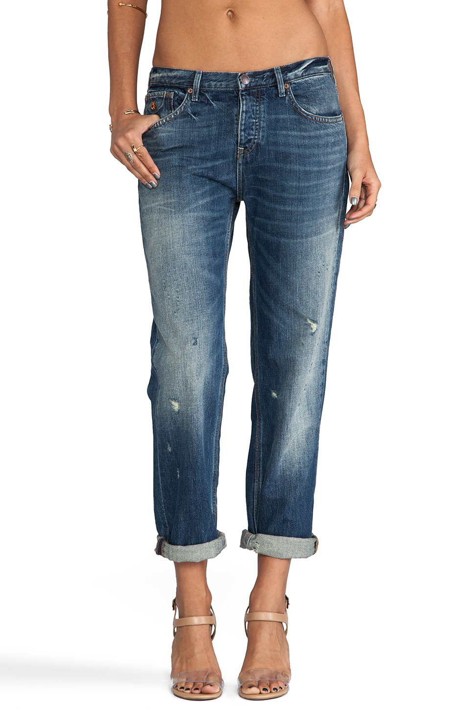 Maison Scotch Boyfriend Fit in Med Denim