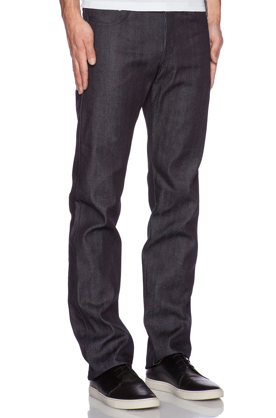 Naked & Famous Denim Naked & Famous Slim Guy in 13oz Broken Twill Selvedge