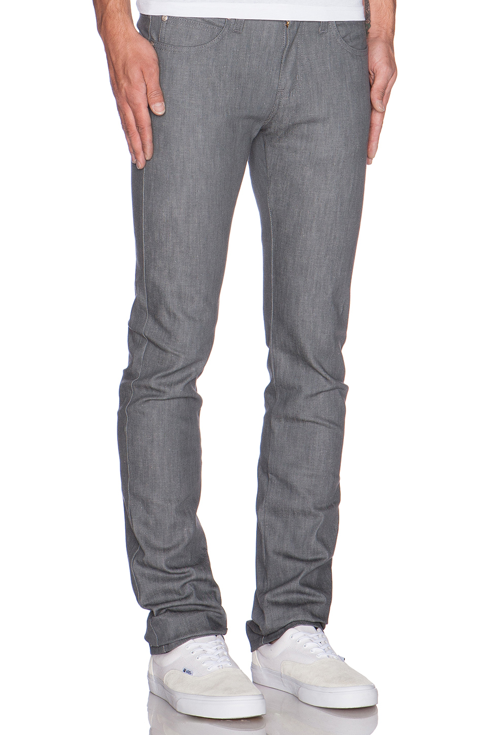 Naked & Famous Denim Skinny Guy in 12oz Grey Stretch