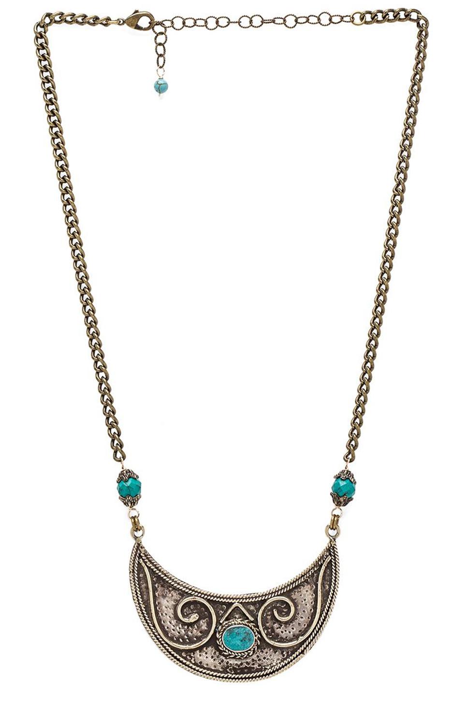 natalie b jewelry de necklace in brass revolve