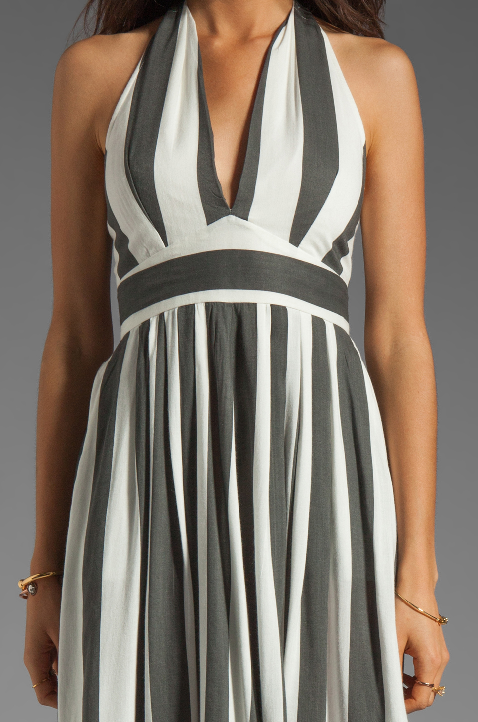 NEUW Daphne Dresss in Black/White Stripe