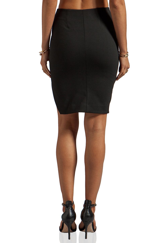 NICHOLAS Ponti Zip Wrap Skirt in Black