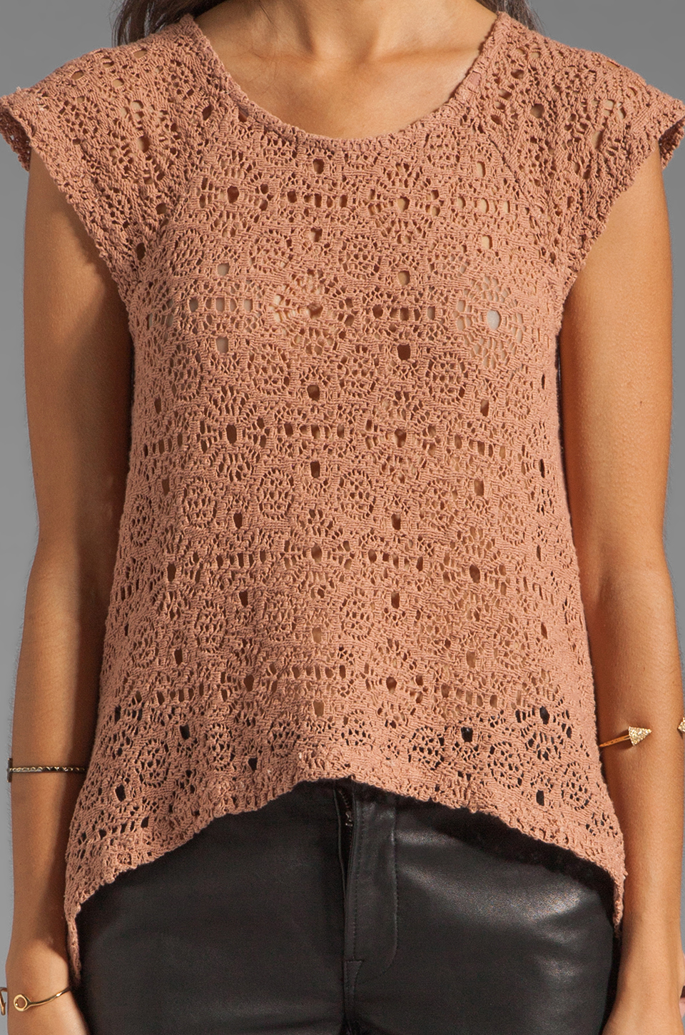 Nightcap Isobel Lace Top in Blush
