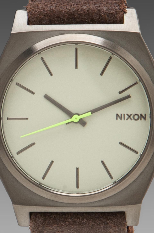 Nixon Gunsmith Collection The Time Teller in Gunmetal/Brown