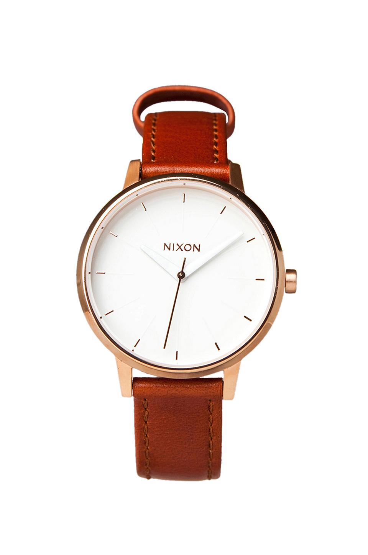 Nixon The Kensington Leather in Rosegold/White