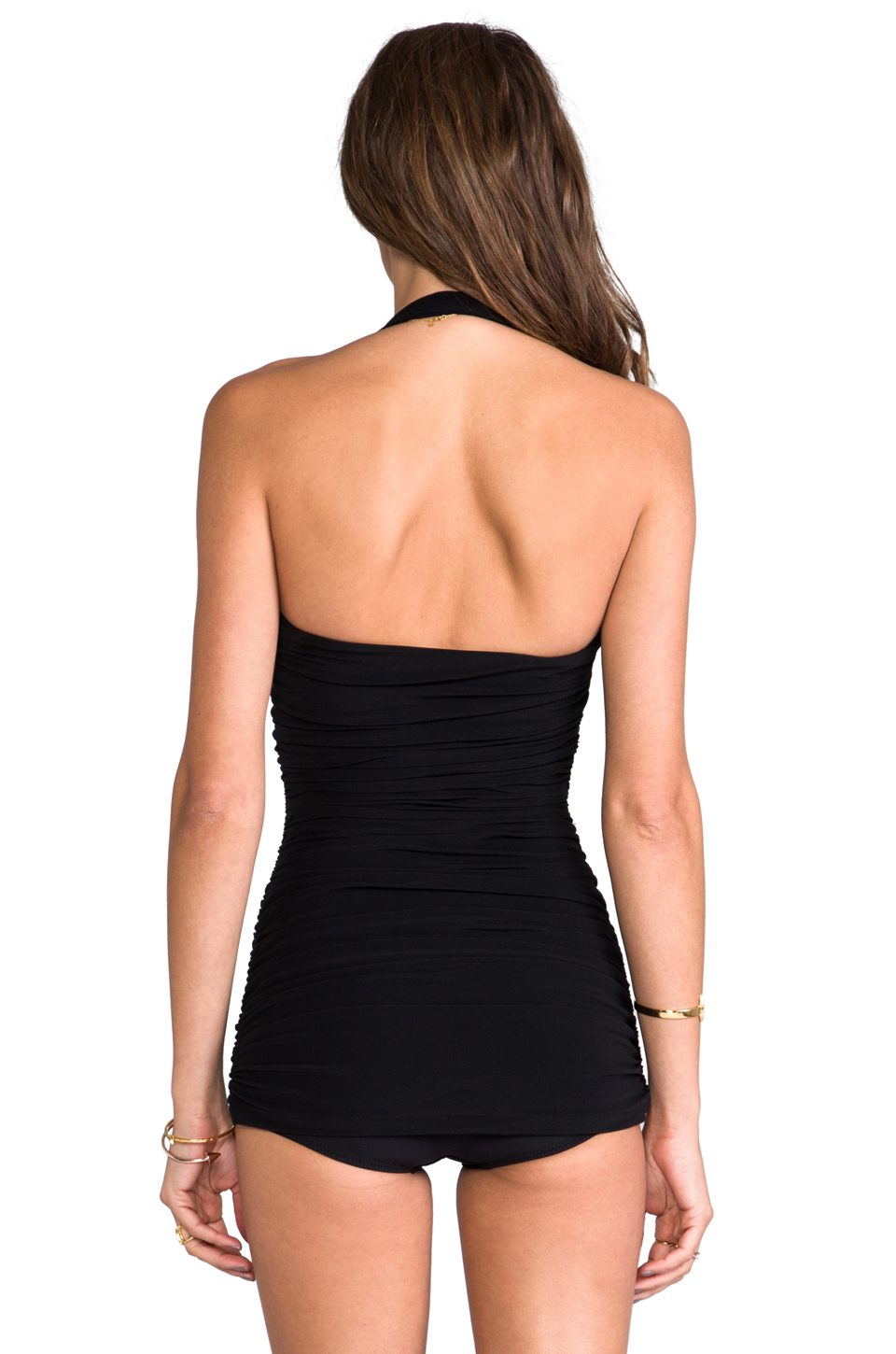 Norma Kamali Bill Mio One-piece in Black