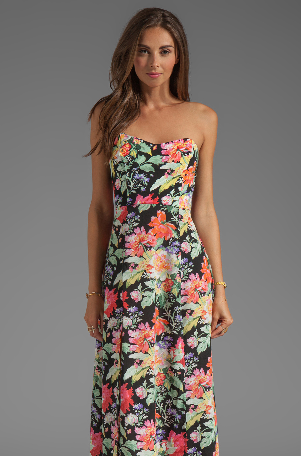 Nookie Full Bloom Maxi Dress in Floral