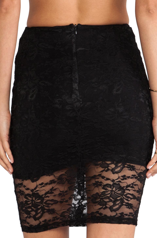 Nookie Teen Spirit Pencil Skirt in Black